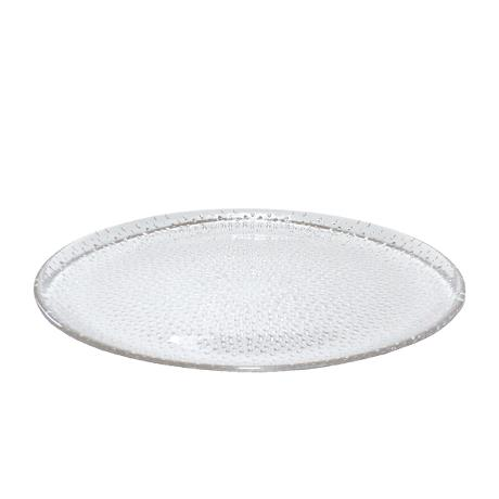 RAW - glass clear round dish 34,5 cm.