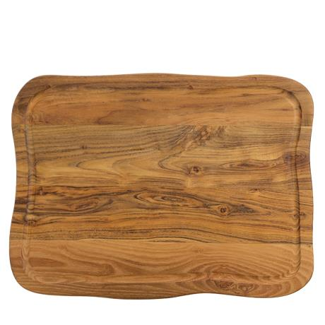 RAW - cuttingboard with juice groove, teakwood, 1 pcs