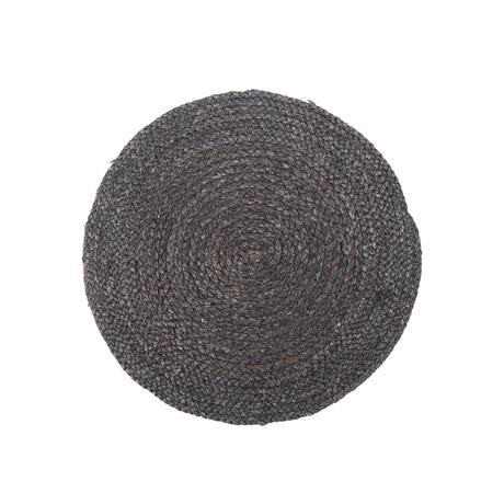 RAW - placemat round black reed, 1 pcs