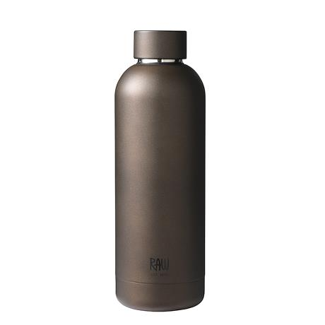 RAW - thermo bottles in steel mat brown 1 pcs
