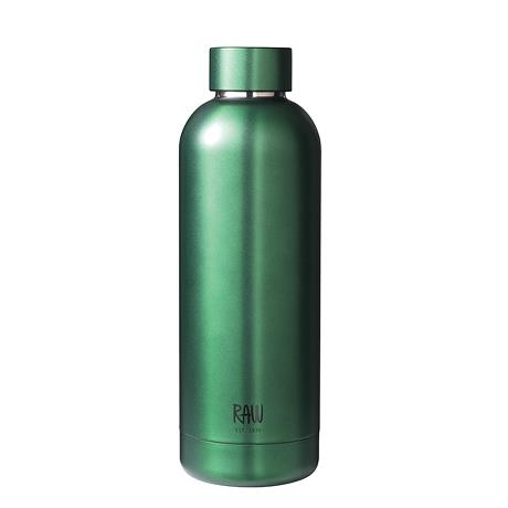 RAW - thermo bottles in steel mat green 1 pcs