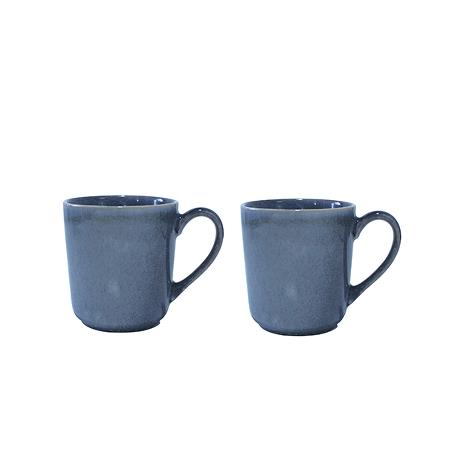 SØHOLM Sonja -mug w handle blue 2 pcs