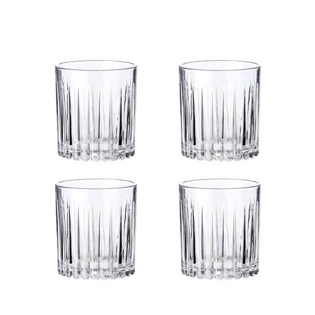 Relief glass -whisky glass 4 pcs