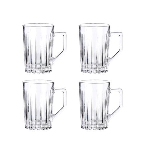 Relief glass -hot drink glass 4 pcs