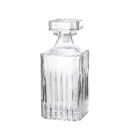 Relief glass -decanter with lid 1 pcs