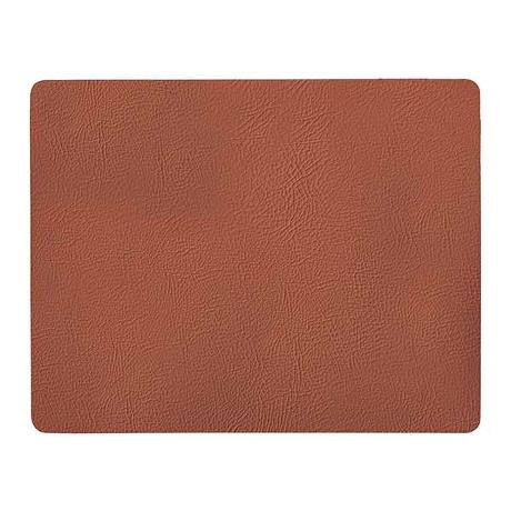 Quadro - placemat recycled leather cognac 1 pcs